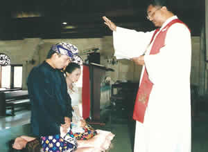 bali christian wedding